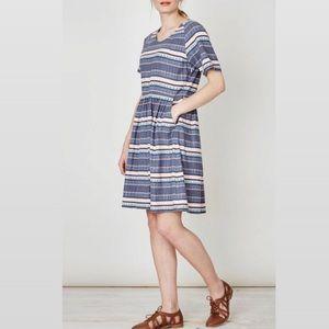 "Thought ""Abigail"" stripe hemp midi dress 🍡"